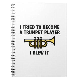 Trumpet Player Spiral Note Book