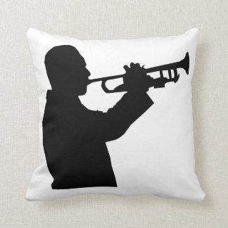 Trumpet Player Throw Pillow
