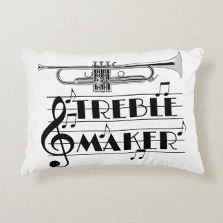 Trumpet Player Treble Maker Accent Pillow