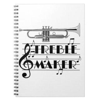 Trumpet Player Treble Maker Note Book