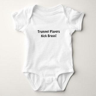 Trumpet Players Kick Brass Baby Bodysuit