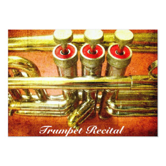 Trumpet Recital cool jazz stylish performance Card