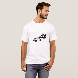Trumpet Silhouette White T-Shirt
