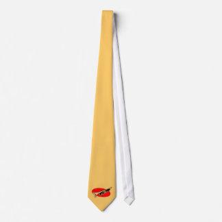Trumpet Simple Design Red Background Tie