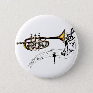 Trumpet Simple Sketch 2 2 Inch Round Button