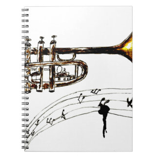 Trumpet Simple Sketch 2 Notebooks