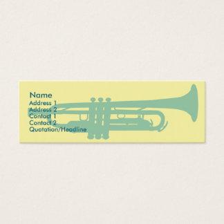 Trumpet - Skinny Mini Business Card