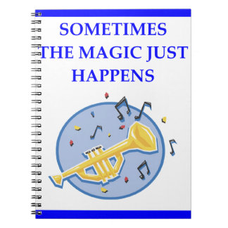 trumpet spiral notebooks