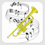 Trumpet Square Stickers
