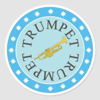 Trumpet Stickers sheet of 6