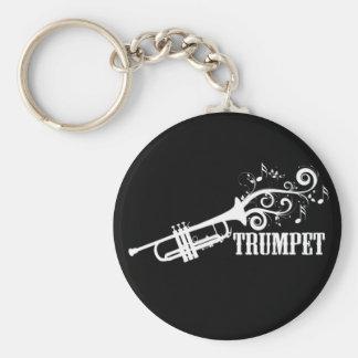 Trumpet Vector with swirls Keychain