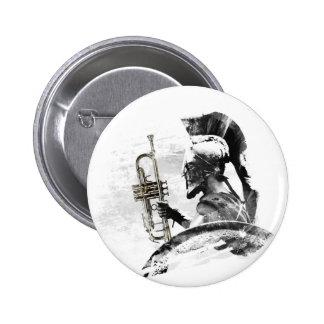Trumpet Warrior 2 Inch Round Button