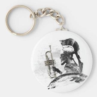 Trumpet Warrior Basic Round Button Keychain