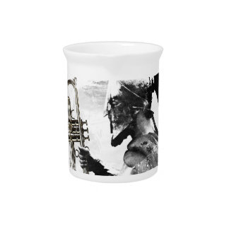 Trumpet Warrior Beverage Pitchers