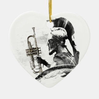 Trumpet Warrior Ceramic Ornament