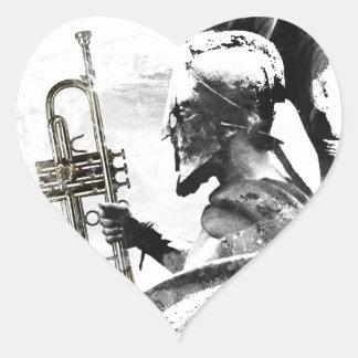 Trumpet Warrior Heart Sticker