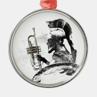 Trumpet Warrior Metal Ornament