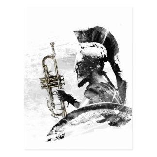 Trumpet Warrior Postcard