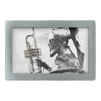 Trumpet Warrior Rectangular Belt Buckles