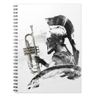Trumpet Warrior Spiral Notebook