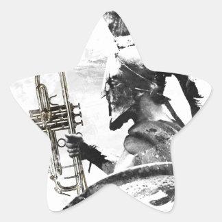 Trumpet Warrior Star Sticker