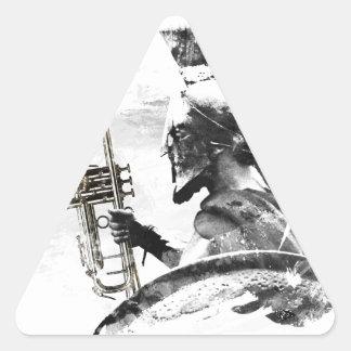 Trumpet Warrior Triangle Sticker