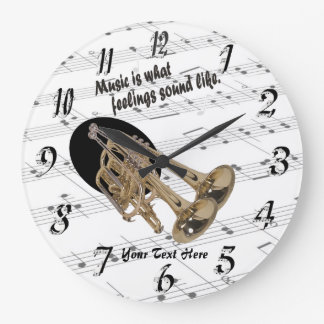 Trumpet  What Feelings Sound Like Round Wall Clock