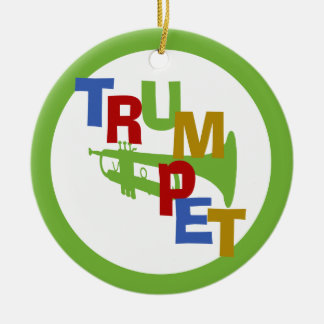 TRUMPET with Photo Frame Ceramic Ornament