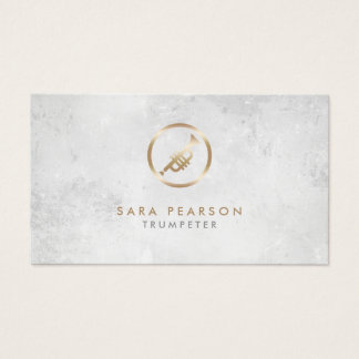 Trumpeter Gold Trumpet Icon Business Card