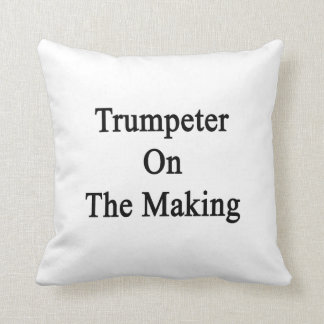 Trumpeter On The Making Throw Pillow