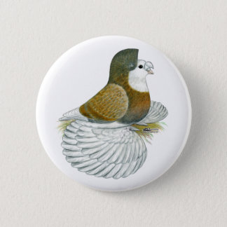 Trumpeter Pigeon AOC Baldhead 2 Inch Round Button