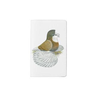 Trumpeter Pigeon AOC Baldhead Pocket Moleskine Notebook