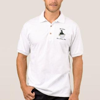 Trumpeter Pigeon Black Baldhead Polo Shirt