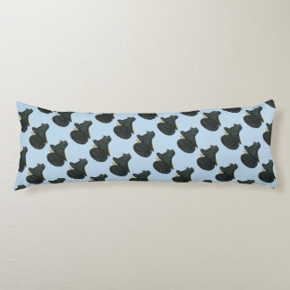 Trumpeter Pigeon Black Body Pillow