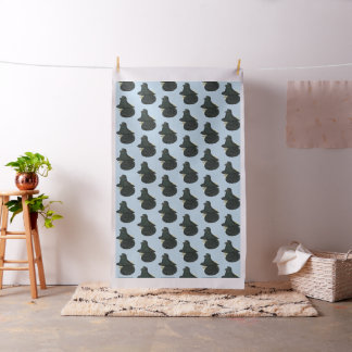 Trumpeter Pigeon Black Fabric
