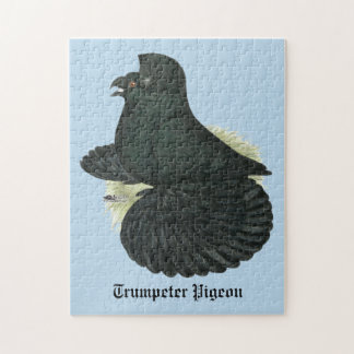 Trumpeter Pigeon Black Jigsaw Puzzle