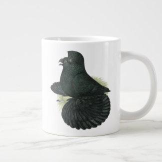 Trumpeter Pigeon Black Large Coffee Mug