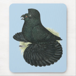 Trumpeter Pigeon Black Mouse Pad