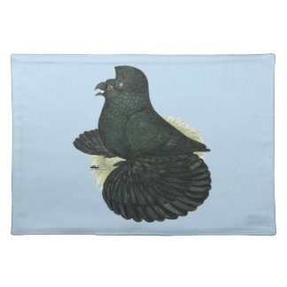 Trumpeter Pigeon Black Placemat