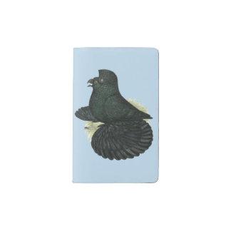 Trumpeter Pigeon Black Pocket Moleskine Notebook