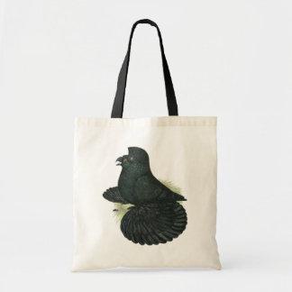 Trumpeter Pigeon Black Tote Bag