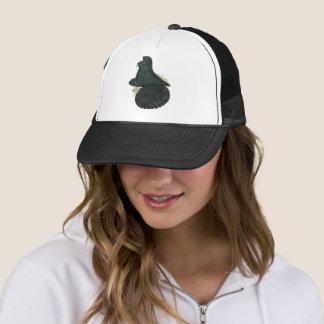 Trumpeter Pigeon Black Trucker Hat