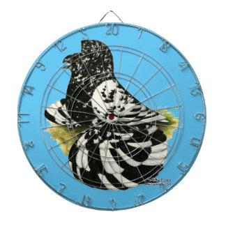 Trumpeter Pigeon Dark Splash Dartboard