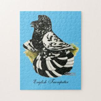 Trumpeter Pigeon Dark Splash Jigsaw Puzzle