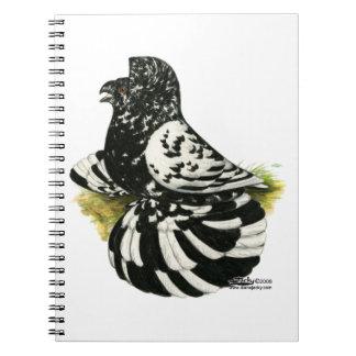Trumpeter Pigeon Dark Splash Notebooks