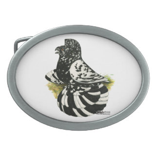 Trumpeter Pigeon Dark Splash Oval Belt Buckles