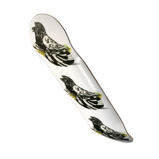 Trumpeter Pigeon Dark Splash Skate Deck