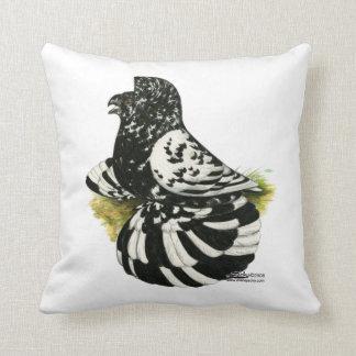 Trumpeter Pigeon Dark Splash Throw Pillow