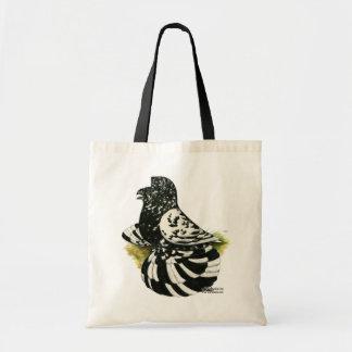 Trumpeter Pigeon Dark Splash Tote Bag