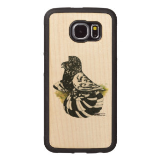 Trumpeter Pigeon Dark Splash Wood Phone Case